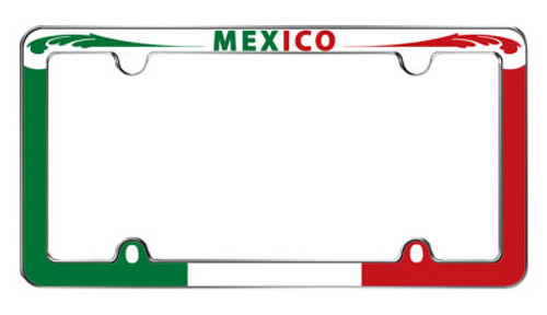 Mexico Chrome Plated License Plate Frame Plastic