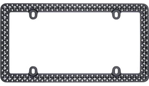 Defender Matte Black & Chrome License Plate Frame