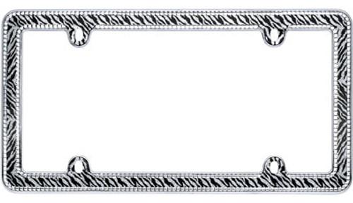 Zebra Bling License Plate Frame