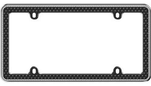 Button Tuck Bling License Plate Frame