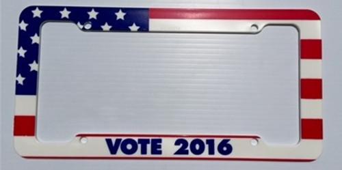 Vote 2016 License Plate Frame Plastic