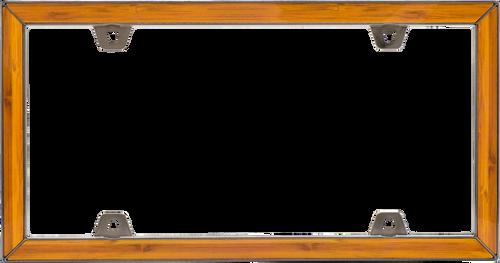 Bamboo License Plate Frame