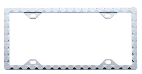 Diamond Chrome License Plate Frame
