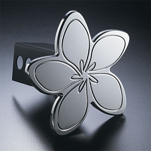 Hawaiian Plumeria Flower Hitch Cover Billet Aluminum