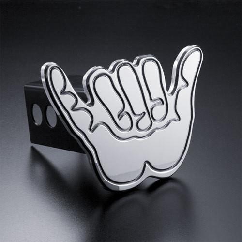 Shaka Hand Hang Loose Hitch Cover Billet Aluminum
