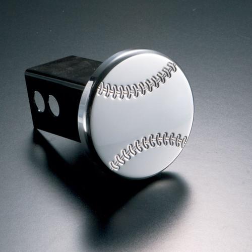 Baseball Hitch Cover Billet Aluminum