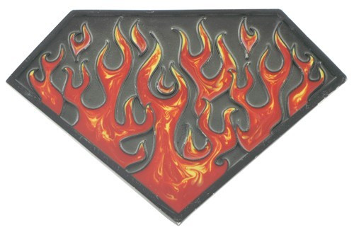 Flame Superman Shield Hitch Cover