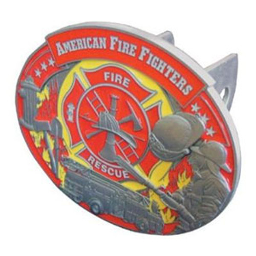 Firefighter Hitch Cover Red and Yellow