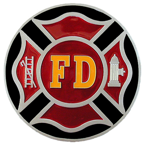 Firefighter Hitch Cover Red and Black