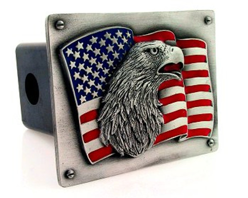 American Flag American Eagle Trailer Hitch Cover