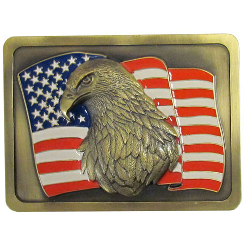 American Eagle American Flag Hitch Cover