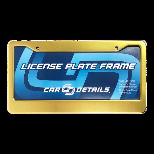 Car Details Anodized Aluminum License Plate Frame V2 Gold