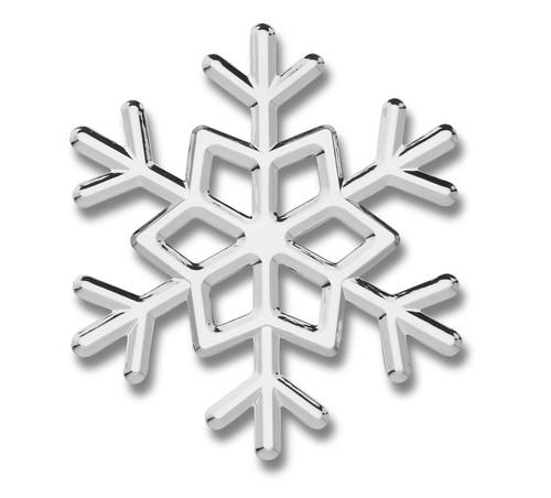 Snowflake 3D-CALS 3-D Chrome Plated Plastic Emblem
