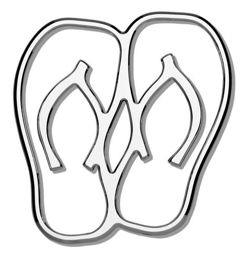 Flip Flops 3D-CALS 3-D Chrome Plated Plastic Emblem