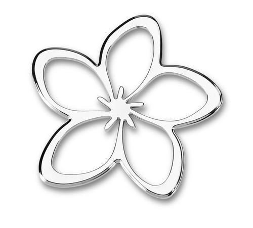 Plumeria Flower 3D-CALS 3-D Chrome Plated Plastic Emblem