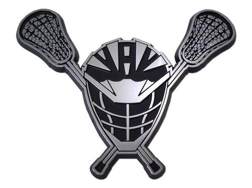 Lacrosse Helmet 3D-CALS 3-D Chrome Plated Plastic Emblem
