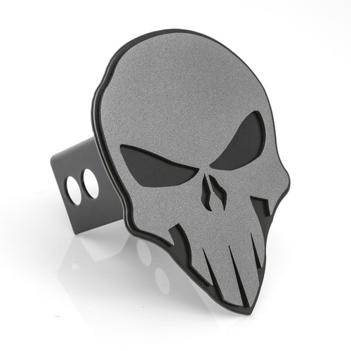 Skull Hitch Cover Anthracite On Black