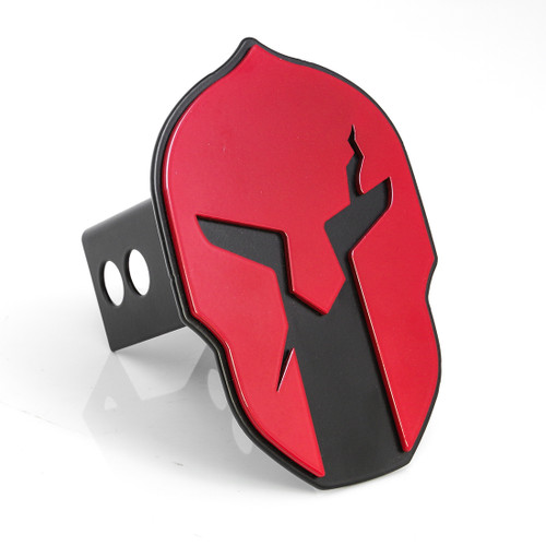 Helmet Hitch Cover Red on Black
