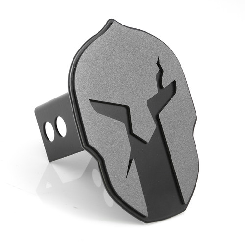 Helmet Hitch Cover Anthracite on Black
