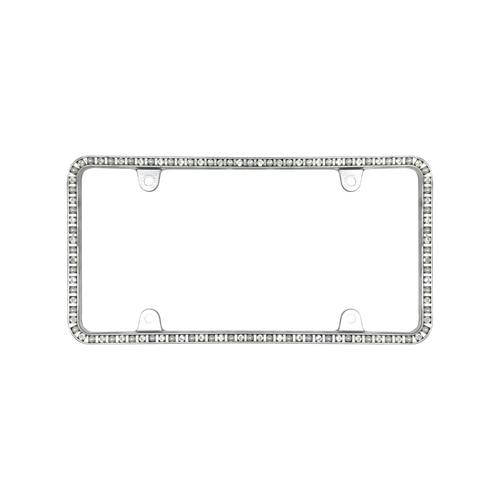 Pearlesque with Ice Crystals License Plate Frame