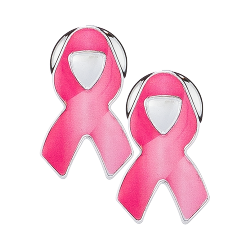 Pink Ribbon Breast Cancer Awareness Screw Covers