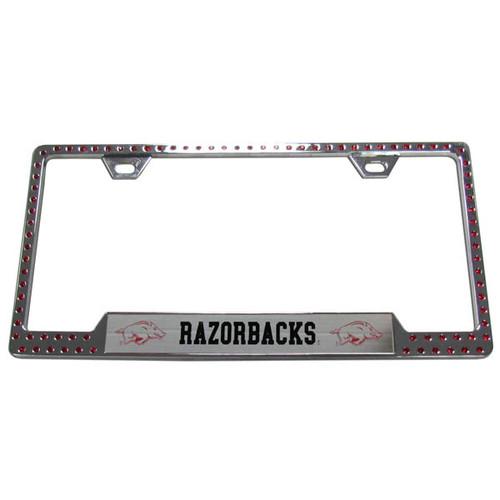 Arkansas Razorbacks Bling License Plate Frame