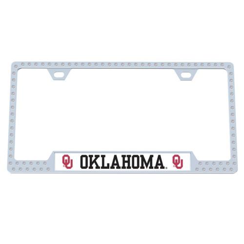 Oklahoma Sooners Bling License Plate Frame
