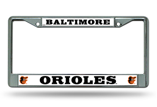 Baltimore Orioles Chrome License Plate Frame