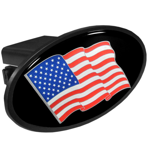 American Flag Plastic Hitch Cover Class III