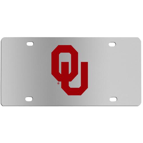 Oklahoma Sooners Steel License Plate Wall Plaque