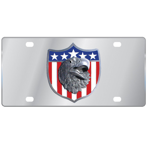 Patriotic Eagle Logo License Plate