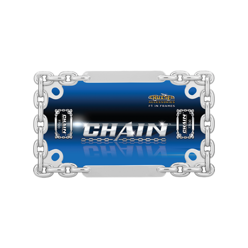 Motorcyle Chain Chrome License Plate Frame