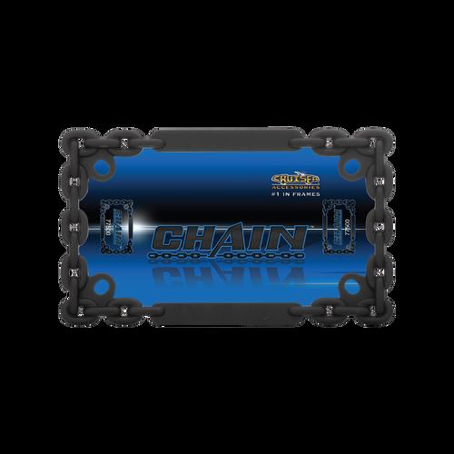 Motorcyle Chain Black License Plate Frame