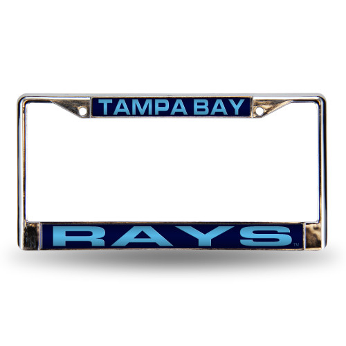 Tampa Bay Rays Laser Chrome License Plate Frame