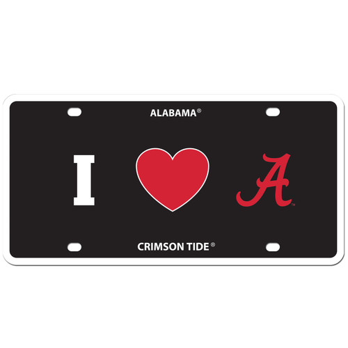 Alabama Crimson Tide Styrene License Plate
