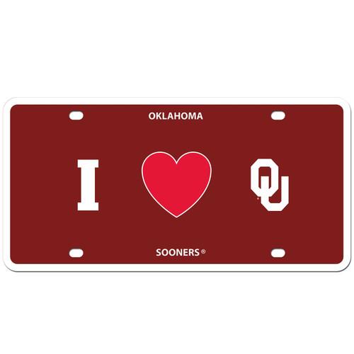 Oklahoma Sooners Styrene License Plate