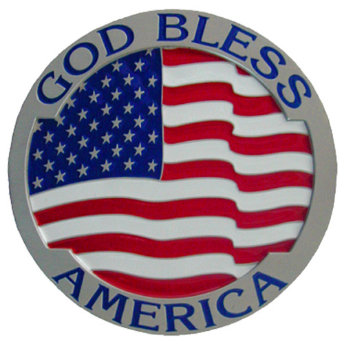 GOD Bless America Trailer Hitch Cover Plug Pride Novelty