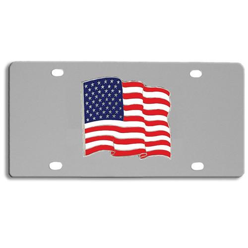 Siskiyou SPLT96 Stainless Steel Patriotic Eagle License Plate