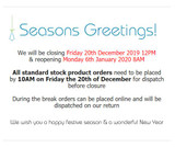 Surestyle Christmas Hours - Get your orders in now!