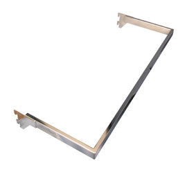 Flexiwall 50 Side Hang Rail 900mm Satin Chrome