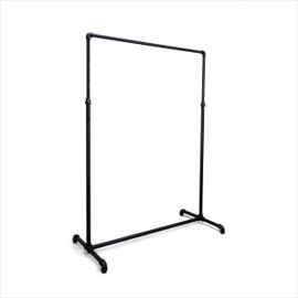 Single Rail Rack Industrial Style 1200mm Black