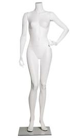 Female Mannequin Headless Left Hand on Hip White