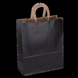 Paper Bag Large Tall 280w x 120d x 350h Black pack 100