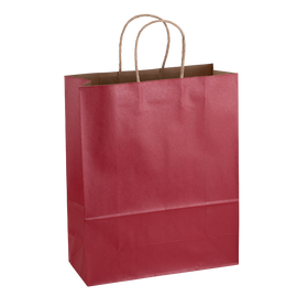 Paper Bag Large Tall 280w x 120d x 350h Red pack 100