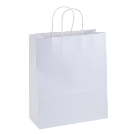Paper Bag Large Tall 280w x 120d x 350h White pack 100