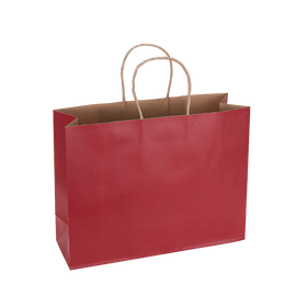 Paper Bag Large Wide 320w x 110d x 250h Red pack 100
