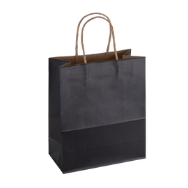 Paper Bag Medium Tall 210w x 110d x 270h Black pack 100