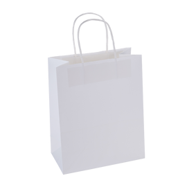 Paper Bag Medium Tall 210w x 110d x 270h White pack 100