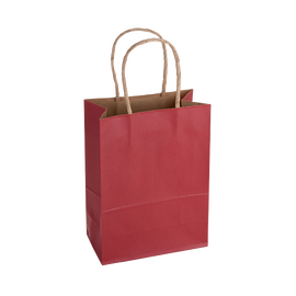 Paper Bag Small Tall 150w x 80d x 210h Red pack 100