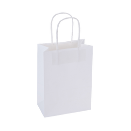 Paper Bag Small Tall 150w x 80d x 210h White pack 100